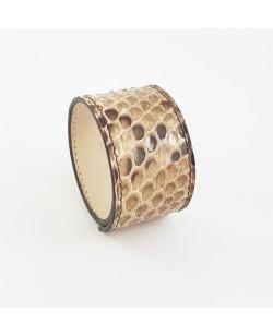 Bracelet manchette python naturel brillant