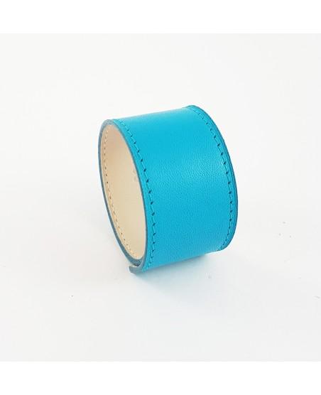 Bracelet manchette veau turquoise