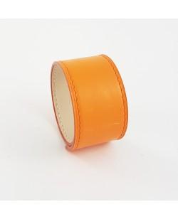Bracelet manchette veau orange