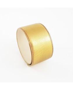 Bracelet manchette veau doré