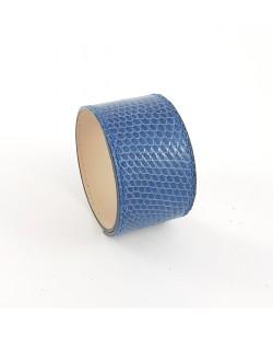 Bracelet manchette lézard bleu