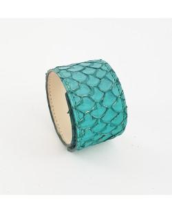 Bracelet manchette tilapia turquoise