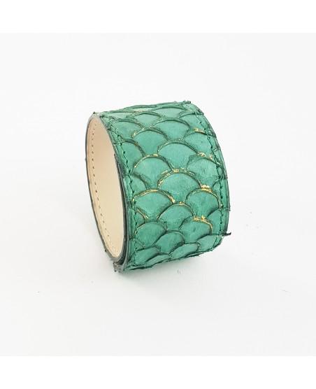 Bracelet manchette tilapia vert
