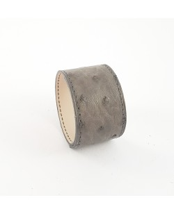 Bracelet manchette autruche grise