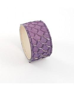 Bracelet manchette tilapia violet