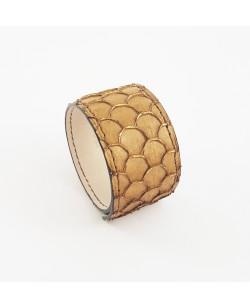 Bracelet manchette tilapia camel