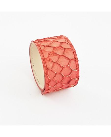 Bracelet manchette tilapia corail
