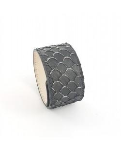 Bracelet manchette tilapia noir