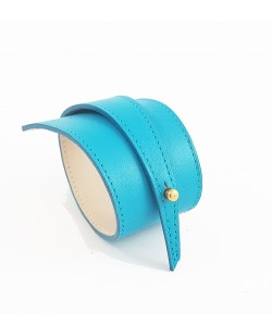 Bracelet en veau lisse turquoise