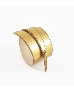 Bracelet en cuir lisse doré