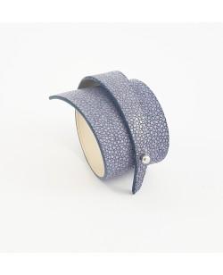 Bracelet galuchat parme