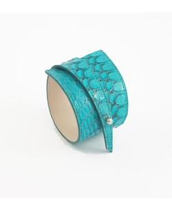 Bracelet python turquoise