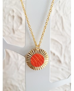 "Collier ""summer"" orange"