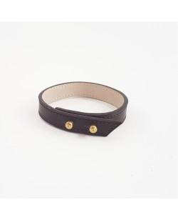 Bracelet veau lisse marron