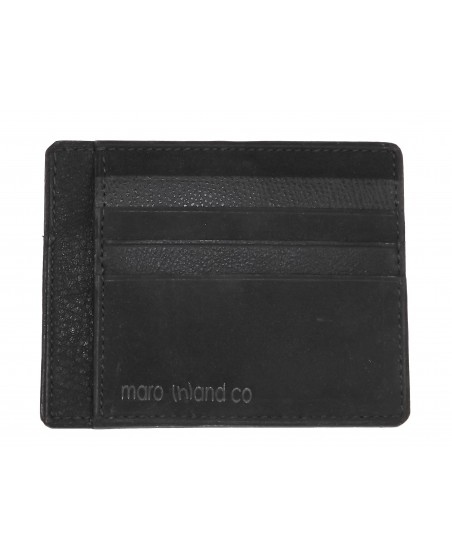 Porte-cartes camïeau de veau noir