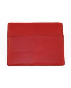 Porte-cartes veau rouge