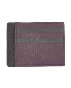Porte-cartes camaïeu veau violet