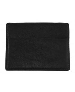porte cartes veau noir