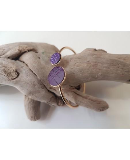 Bracelet jonc violet