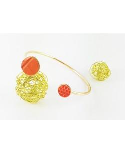 "Bracelet ""Moon"" orange"