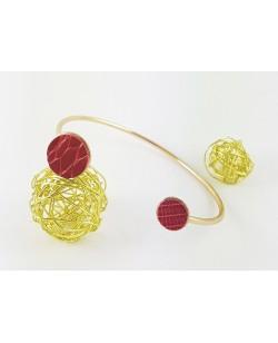 """Bracelet """"Moon"""" rouge"""