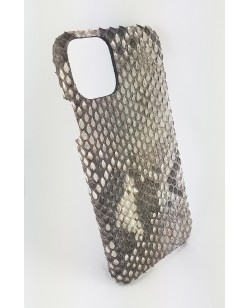 coque Iphone  11 Pro Max cuir python naturel fabriqué en France