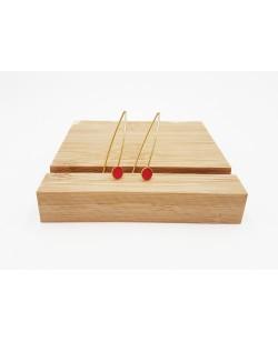 boucles d'oreille pendantes rouge