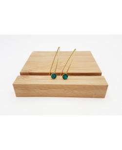 boucles d'oreille pendantes turquoise