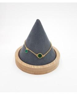 bracelet plaqué or vert