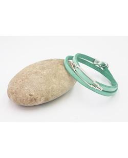 Bracelet Indiana vert d'eau