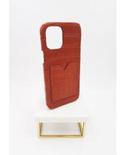 Coque Iphone card holder en alligator de Louisiane