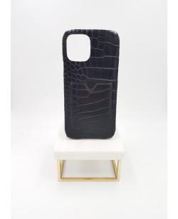 Coque card holder Iphone 12 pro max alligator noir